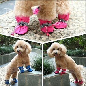 Puppy Waterproof Shoes Soft-soled Dog Pet Paw Care Pet Accessories Fashion 4pcs