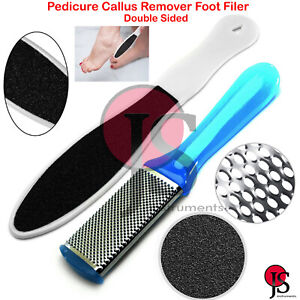 Professional Foot Callus Skin Remover Pedicure Tool Double Sided Scraper Rasp