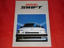 SUZUKI Swift AA 1.0 GL 1.3 GL 1.3 GLX 1.3 GTi 1.3 GXi Prospekt von 1986