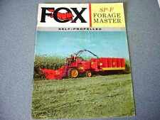 Fox SP-F Self-Propelled Forage Harvester Brochure from 1962