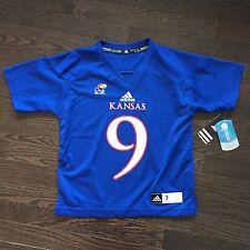 NWT Kansas Jayhawks Football adidas Jersey Youth Size L 7/6X