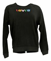Levi's Women's Sz S Sweatshirt Relaxed Graphic Pullover Black