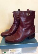NINE WEST BROWN LEATHER HEELED ANKLE BOOTS SIZE 7.5/41