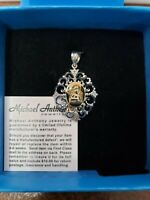 Michael Anthony Jewelry Sterling Silver 2 Tone Angel Pendant HSN $55 SOLD OUT