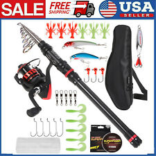 Blusea Fishing Rod +Reel Combo Carrier Bag Case Saltwater Travel Full Kit S5L1