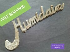 Vintage Humidaire Drumstyle Incubator Metal Emblem Badge Only