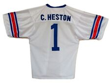 Charlton Heston Number One Football Jersey Nra Made In Usa Red White Blue #1