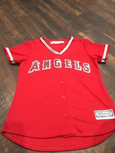 Los Angeles Angels Majestic MLB Jersey Women Medium NEW With Out Tags