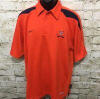 Nike Mens Small Sphere Dry Virginia Cavaliers Authentic Team Apparel Polo Shirt