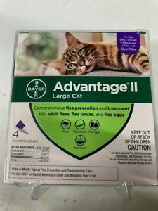 Advantage II for Large Cats Over 9 Lbs 4 Pack Genuine EPA Approved