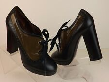 NEW MARC BY MARC JACOBS TWO TONE LEATHER OXFORDS PLATFORM PUMPS 36.5 ITALY