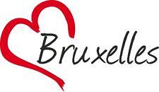 """Voiture autocollant """"Bruxelles"""" Bruxelles sticker ville Belgique environ 9x15cm konturge."""