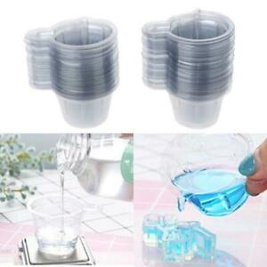 200Pcs 40ML Plastic Disposable Epoxy Resin Mixing Cups Dispenser Resin Cup Craft