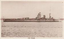 "Royal Navy RP Postcard. HMS ""Nelson"" Battleship. Fine!  16"" guns! c 1928"