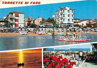 Cartolina - Saluti da - Torrette di Fano - Vedutine - pattino - VG