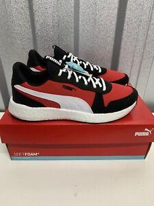 Puma Nrgy Neko Black Red Brand New Boxed Size 9.5 UK