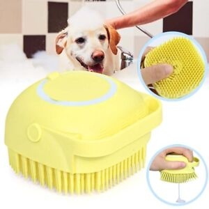 Silicone Pet Dog Shampoo Brush Cat Massage Comb Grooming Scrubber Brush