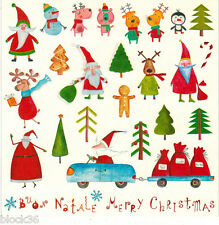 BUON NATALE and MERRY CHRISTMAS Cute Russian modern postcard of square shape