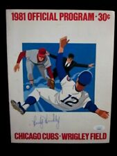 RANDY HUNDLEY SIGNED 1981 CHICAGO CUBS BASEBALL PROGRAM VS ST. LOUIS CARDINALS