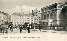 Sweden Stockholm - Gustav Adolfs Torg med Operahuset old postcard