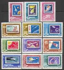 Hungary 1963 Space/Laika/Dog/Gagarin/Rockets/Stamp-on Stamp 12v set (n24046)