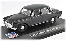 W87 Simca Aronde Bacalan 1958 1/43 Scale Black New in Display Case