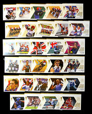 GB 2012 Olympic Gold Medal Winners Complete (29) Unmounted NEW SALE PRICE BN1708