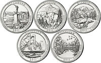 2011 P D Gettysburg - CHICKASAW NATIONAL PARK QUARTER All SETS 10 CLAD COINS ATB