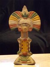 VINTAGE AZTEC MAYAN CLAY FLUTE UNIQUE FOLK ART POTTERY