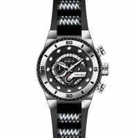 Invicta Men's Watch S1 Rally Chrono Black Dial TT Steel and Silicone Strap 24221