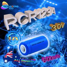 12X RCR123A Rechargeable 3.0V 600mAh Lithium Li-ion Batteries