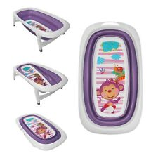 Baby Bath Time Foldable Splash & Play Purple Monkey Design Transportable Tub
