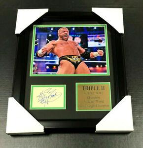 TRIPLE H HEAVYWEIGHT AUTOGRAPHED REPRINT CHAMPION WWE WWF 8x10 PHOTO FRAMED