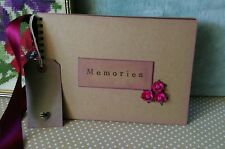 Kraft Scrapbook Rustic handmade Photo Album memory book vintage 20 BURGUNDY pg