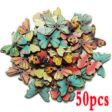 """25mm Lot of 20 BUTTERFLY 2-hole Wood Button 1/"""" x 3//4/"""" 4286 Scrapbook Craft"""