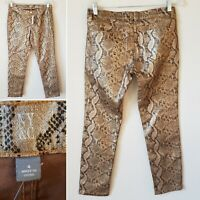 NY & C Animal Print Pants Womens NWT New Skinny Ankle Low Rise Size 4