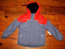New! Boys CANYON RIVER BLUES Orange & Gray Hooded Winter Coat Medium 5 / 6
