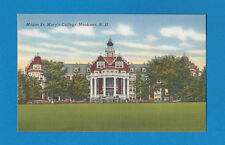 NEW HAMPSHIRE NH HOOKSETT MOUNT ST MARY'S COLLEGE Linen Vintage Old Postcard