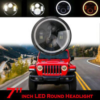 7 Inch Projector LED Headlight Angel Eyes DRL Light for Jeep Wrangler 2007-17 JK