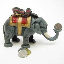 Circus Elephant Cast Iron Mechanical Bank 1930's Hubley Lucy Pachyderm Hotel