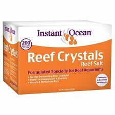 Instant Ocean Reef Crystal Sea Salt Marine Mix, 200-Gallon, New, Free Shipping