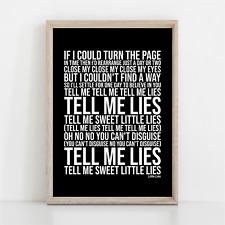 More details for fleetwood mac little lies song lyrics poster print wall art