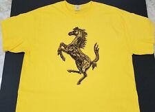 New FERRARI HORSE T-SHIRT artistic prancing Scuderia la f12 v12 f430 458 360*348