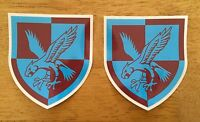 2X MILITARY ARMY LAND ROVER 16 Air Assault Brigade WOLF WIMIK DEFENDER DECALS