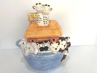 "Jay Import Noah's Ark Cookie Jar 11"" Tall 10"" Wide"