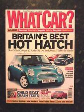 WHAT CAR? MAGAZINE JUL-2002- Focus ST170, Mini Cooper S, Astra SRi Turbo, Vectra