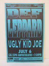 Vintage Original Concert Poster Def Leppard Ugly Kid Joe July 6 1993 Bill Graham
