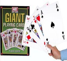 A4 Gigante Jumbo plástico recubierto jugando a las cartas Deck 28 Cm Al Aire Libre Jardín familia Par
