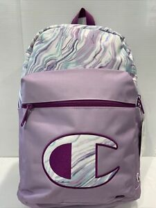 BRAND NEW CHAMPION YOUTH SUPERSIZE BACKPACK SCRIPT LOGO PURPLE COMBO