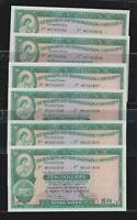 2x3 Hong Kong Shanghai 1978 10 Dollars Banknote consecutive UNC good uncirculate